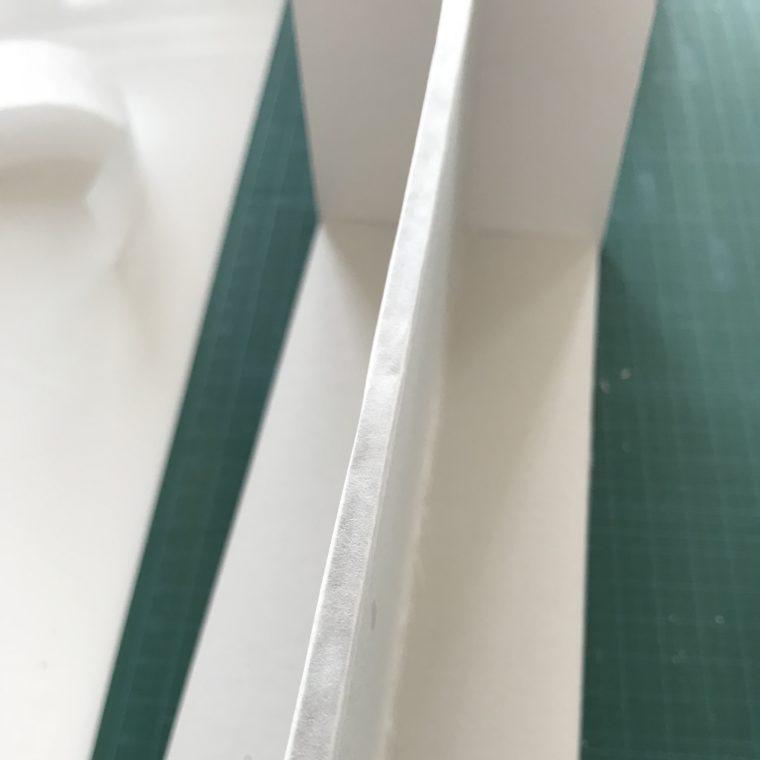 紙テープを貼った部分
