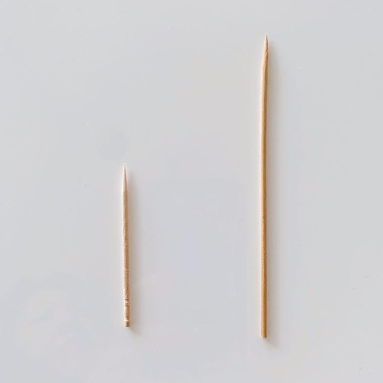 爪楊枝と竹串