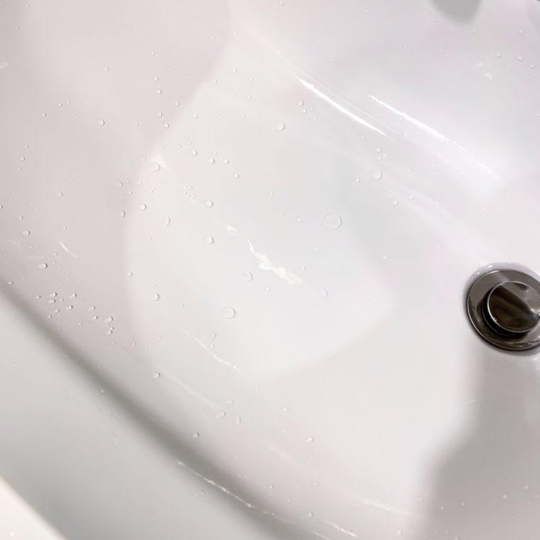 3ヶ月経った洗面台のコーティング