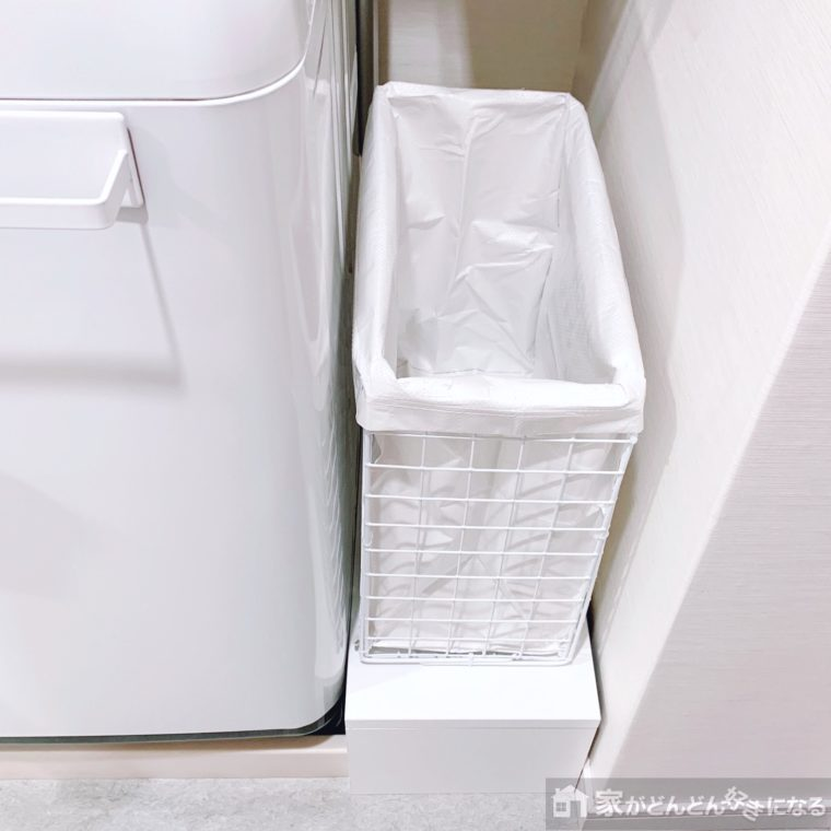 洗濯機横に置いたワゴン