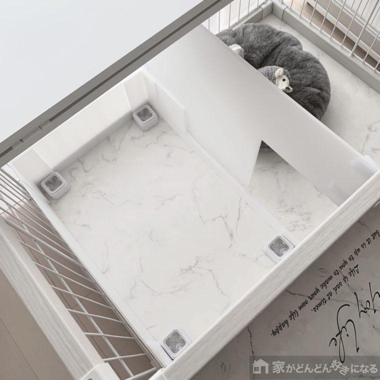 作ったトイレを上から見たところ