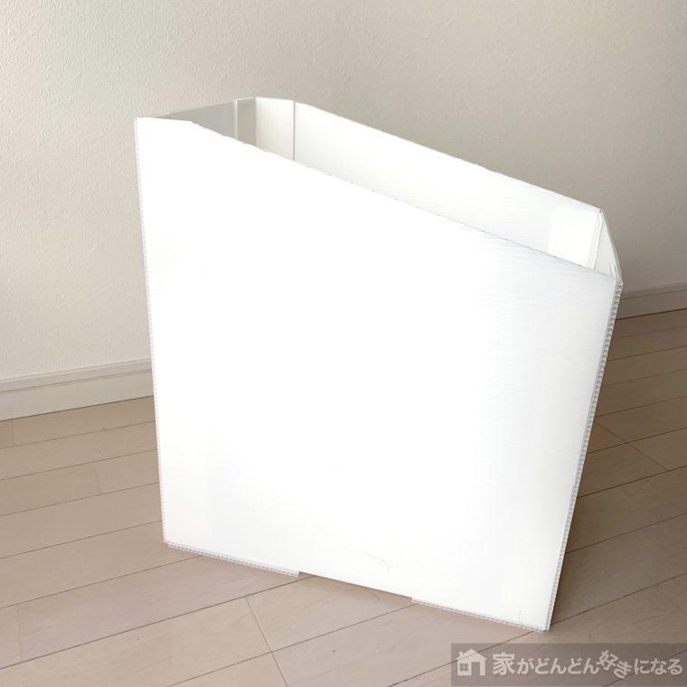 斜めになったゴミ箱