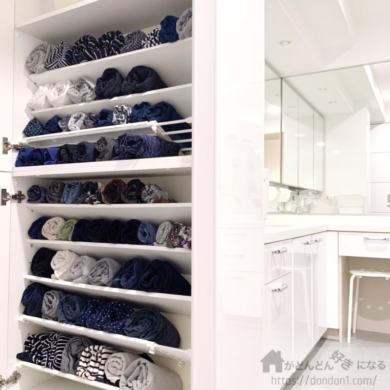 洗面所の衣類収納
